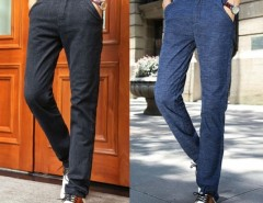 New Men's Stylish Straight Leg Pants Loose Casual Trousers Cndirect bester Fashion-Online-Shop aus China