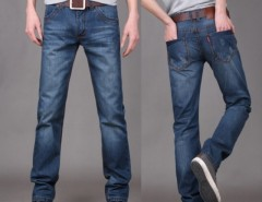 New Fashion Men's Stylish Straight Leg Denim Pants Jeans Trousers Cndirect bester Fashion-Online-Shop aus China