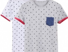 New Fashion Stylish Men's O-neck Short Sleeve Dots Casual T-shirt Shirt Cndirect bester Fashion-Online-Shop aus China