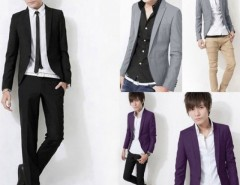 New Stylish Men One Button Suit Slim Fit Casual Business Suit Blazer Coat Cndirect bester Fashion-Online-Shop aus China