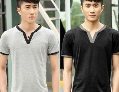 Fashion Men Casual V-Neck Short Sleeve Tops Sports Leisure Loose T-shirt Cndirect bester Fashion-Online-Shop aus China