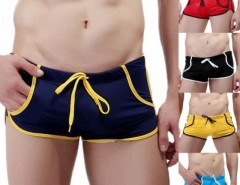 Men's Sexy Swimming Trunks Low Waist Pocket Sports Shorts Beach Wear Swimwear Cndirect bester Fashion-Online-Shop aus China