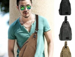 Men Fashion Retro Canvas Satchel Hiking Cycling Shoulder Bag Cross Body Chest Bag Size Small Cndirect bester Fashion-Online-Shop aus China
