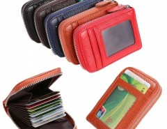 Mens/Womens Fashion Mini Synthetic Leather Wallet ID Credit Cards Holder Organizer Purse Cndirect bester Fashion-Online-Shop aus China