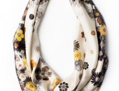 Scarf - Diamonds and Daisies Golden Carnet de Mode bester Fashion-Online-Shop