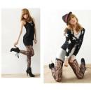 Sexy Fashion Women Soft Rose Lace Pattern Fishnet Tights Pantyhose Stockings Cndirect bester Fashion-Online-Shop China