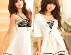 Sexy Women Twinset Lace Pajama Strap Sleep Night Dress Nightwear Sleepwear Set Cndirect bester Fashion-Online-Shop China