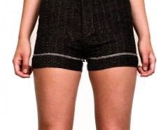 Shorts - SOFT TWEED - Black Carnet de Mode bester Fashion-Online-Shop