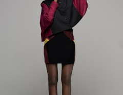 Silk Skirt with Graphic Inserts Alec Carnet de Mode bester Fashion-Online-Shop