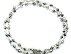 Silver Bracelet with Rose Window and Grey Pearls Ambre Carnet de Mode bester Fashion-Online-Shop