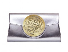Silver Clutch Leather Carnet de Mode bester Fashion-Online-Shop