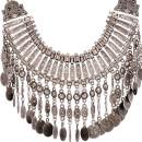 Silver Statement Drop Necklace Choies.com bester Fashion-Online-Shop Großbritannien Europa