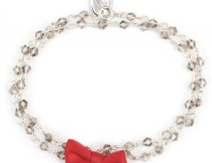 SilverBracelet with Pearls and Red Bow Léa Carnet de Mode bester Fashion-Online-Shop