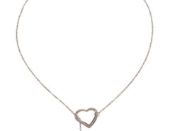 Sliver Hearts Pendant Crystal Detail Chain Necklace Choies.com bester Fashion-Online-Shop Großbritannien Europa