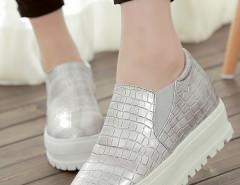 Sliver Textured Flatform Loafers Choies.com bester Fashion-Online-Shop Großbritannien Europa