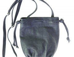 Small leather purse - Renes Longues Musette - blue Carnet de Mode bester Fashion-Online-Shop