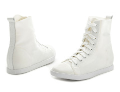 Supra White Lace Up Sneakers Choies.com bester Fashion-Online-Shop Großbritannien Europa