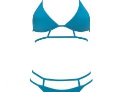 Turquoise Triangle Strappy Bikini - Elizabeth Carnet de Mode bester Fashion-Online-Shop