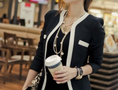 V-neck One Button Blazer OASAP bester Fashion-Online-Shop aus China