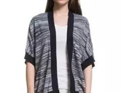 Variegated Contrast Open Front Kimono Cardigan Choies.com bester Fashion-Online-Shop Großbritannien Europa