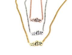 WEIRD Necklace. Unisex. Various Colors. MrKate.com bester Fashion-Online-Shop aus den USA