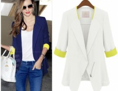 WT88 Stylish Womens Slim Half Sleeve OL Office  Coat Jacket Suits Blazers Top Cndirect bester Fashion-Online-Shop China
