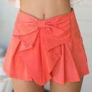 Watermelon Red Bow Embellished Skorts Choies.com bester Fashion-Online-Shop Großbritannien Europa