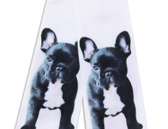 White 3D Cute Bulldog Print Ankle Socks Choies.com bester Fashion-Online-Shop Großbritannien Europa