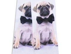 White 3D Tied Pug Print Ankle Socks Choies.com bester Fashion-Online-Shop Großbritannien Europa