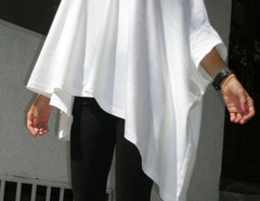 White Boat Neck Bat Sleeve Oversized Asymmetric Blouse Choies.com bester Fashion-Online-Shop Großbritannien Europa