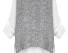 White Cape Back Roll Up Sleeve Blouse Choies.com bester Fashion-Online-Shop Großbritannien Europa