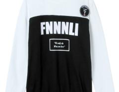 White Color Block Letter Print Sweatshirt Choies.com bester Fashion-Online-Shop Großbritannien Europa