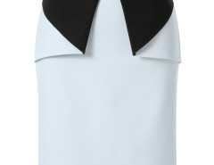 White Contrast Geo Side Zipper Back Split Bodycon Skirt Choies.com bester Fashion-Online-Shop Großbritannien Europa