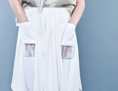 White Flared Skirt SS14 - SK04 Carnet de Mode bester Fashion-Online-Shop