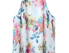 White Floral Print Layer Cami Vest Choies.com bester Fashion-Online-Shop Großbritannien Europa