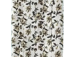 White Floral Print Side Zipper Bodycon Skirt Choies.com bester Fashion-Online-Shop Großbritannien Europa