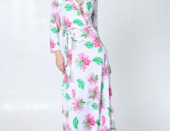 White Floral Wrap Front Tie Waist Maxi Dress Choies.com bester Fashion-Online-Shop Großbritannien Europa