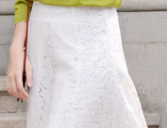White High Waist Eyelash Lace Skirt Choies.com bester Fashion-Online-Shop Großbritannien Europa