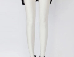 White High Waist Stretchy Leggings Choies.com bester Fashion-Online-Shop Großbritannien Europa