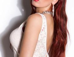 White Lace Bowknot Back Cropped Vest Choies.com bester Fashion-Online-Shop Großbritannien Europa