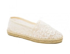 White Lace Espadrilles - Cancan Blanche Carnet de Mode bester Fashion-Online-Shop