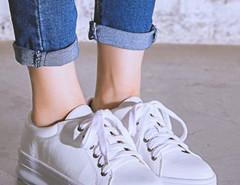 White Lace Up Flatform Shoes Choies.com bester Fashion-Online-Shop Großbritannien Europa