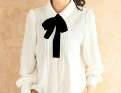 White Long Sleeve Chiffon Shirt OASAP bester Fashion-Online-Shop aus China