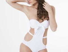 White Marie Swimsuit with a Bow Carnet de Mode bester Fashion-Online-Shop