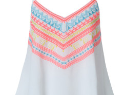 White Tribal Embroidery Layer Cami Vest Choies.com bester Fashion-Online-Shop Großbritannien Europa