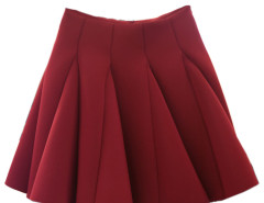 Wine Red High Waist Pleated Mini Skirt Choies.com bester Fashion-Online-Shop Großbritannien Europa