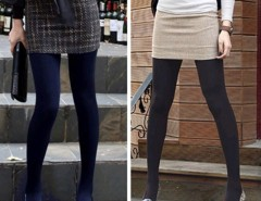Winter Fashion Slim Fleece Tights Pantyhose Warmers Women Stockings 5 Colors Cndirect bester Fashion-Online-Shop China