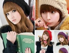 Winter Women Beret Braided Baggy Beanie Crochet Hat Ski Cap Cndirect bester Fashion-Online-Shop China