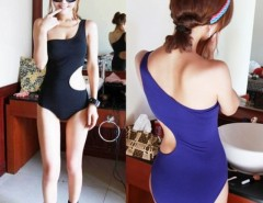 Women Bikini One Shoulder Swimsuit Bathing Suit One Piece Cndirect bester Fashion-Online-Shop China