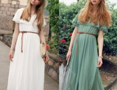 Women Bohemia Long Beach Dress With Belt Cndirect bester Fashion-Online-Shop China